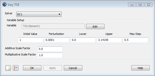 Vary TOI Command Configuration
